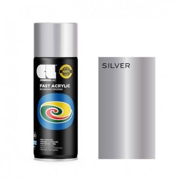 Spray Fast Acrylic Bright Silver 400ml
