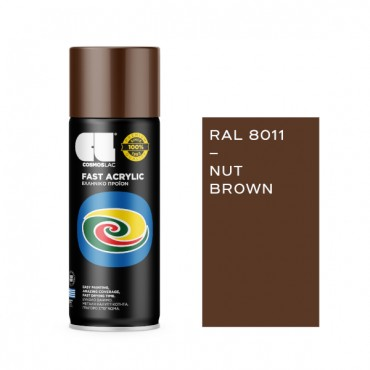 Spray Fast Acrylic Nut Brown RAL 8011 400ml