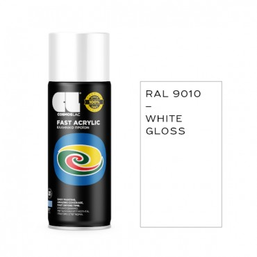 Spray Fast Acrylic Gloss White RAL 9010 400ml