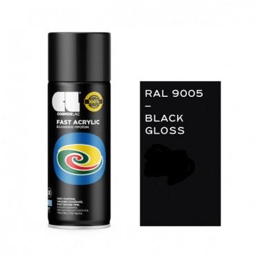 Spray Fast Acrylic Gloss Black RAL 9005 400ml