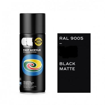 Spray Fast Acrylic Matte Black RAL 9005 400ml