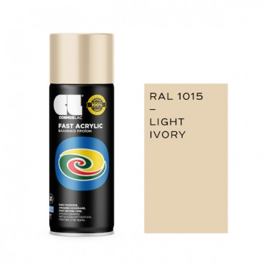 Spray Fast Acrylic Light Ivory RAL 1015 400ml
