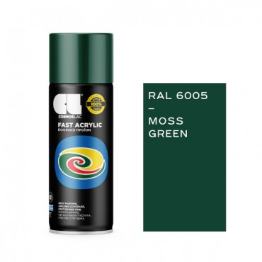 Spray Fast Acrylic Moss Green RAL 6005 400ml