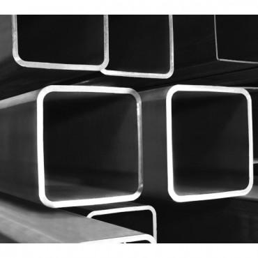 Τετράγωνος Κοιλοδοκός Μαύρος 60mm*60mm*2mm